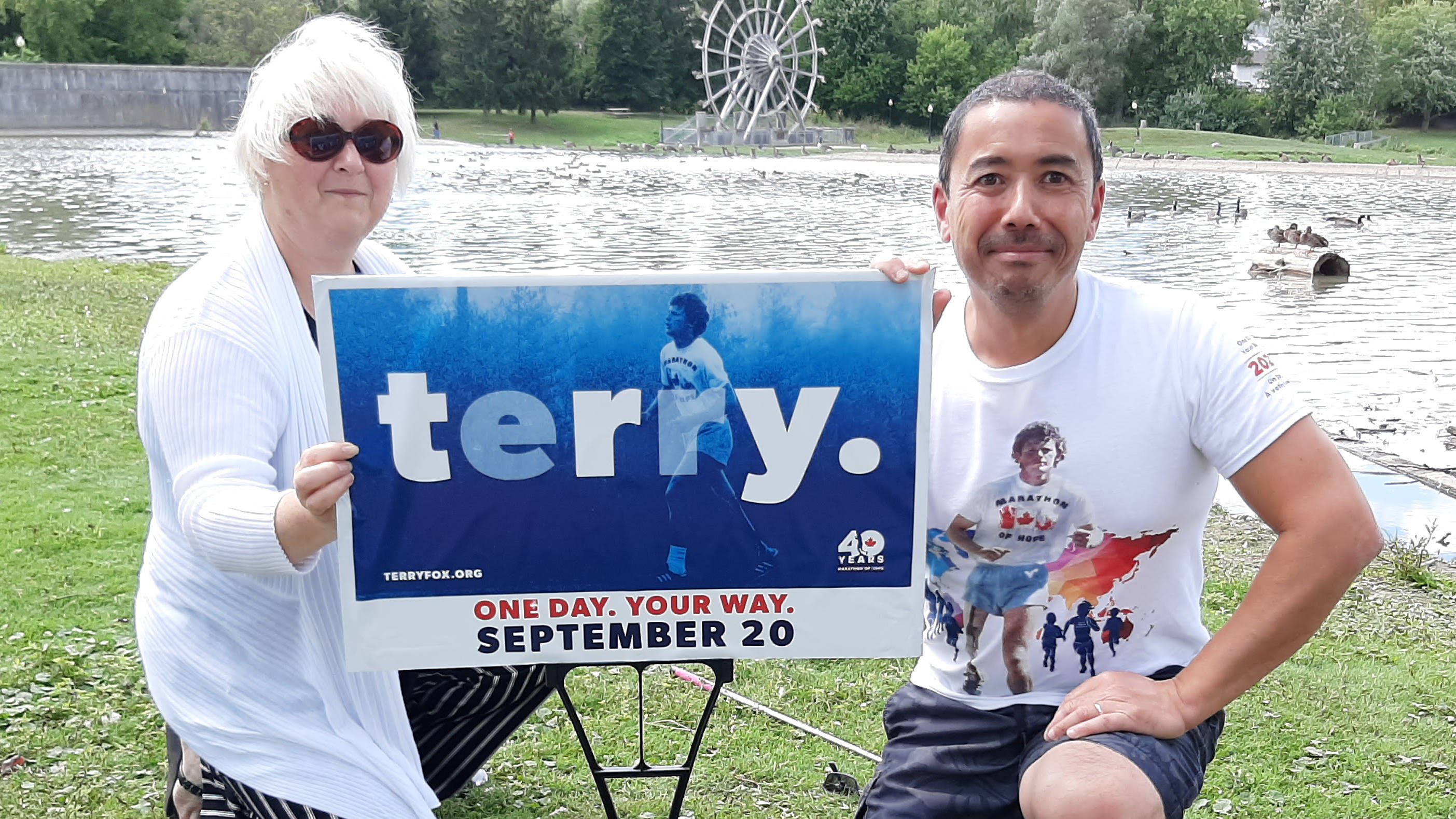Cheryl Gordijk and Nigel Gordijk, organizers of the Wilmot Terry Fox Run