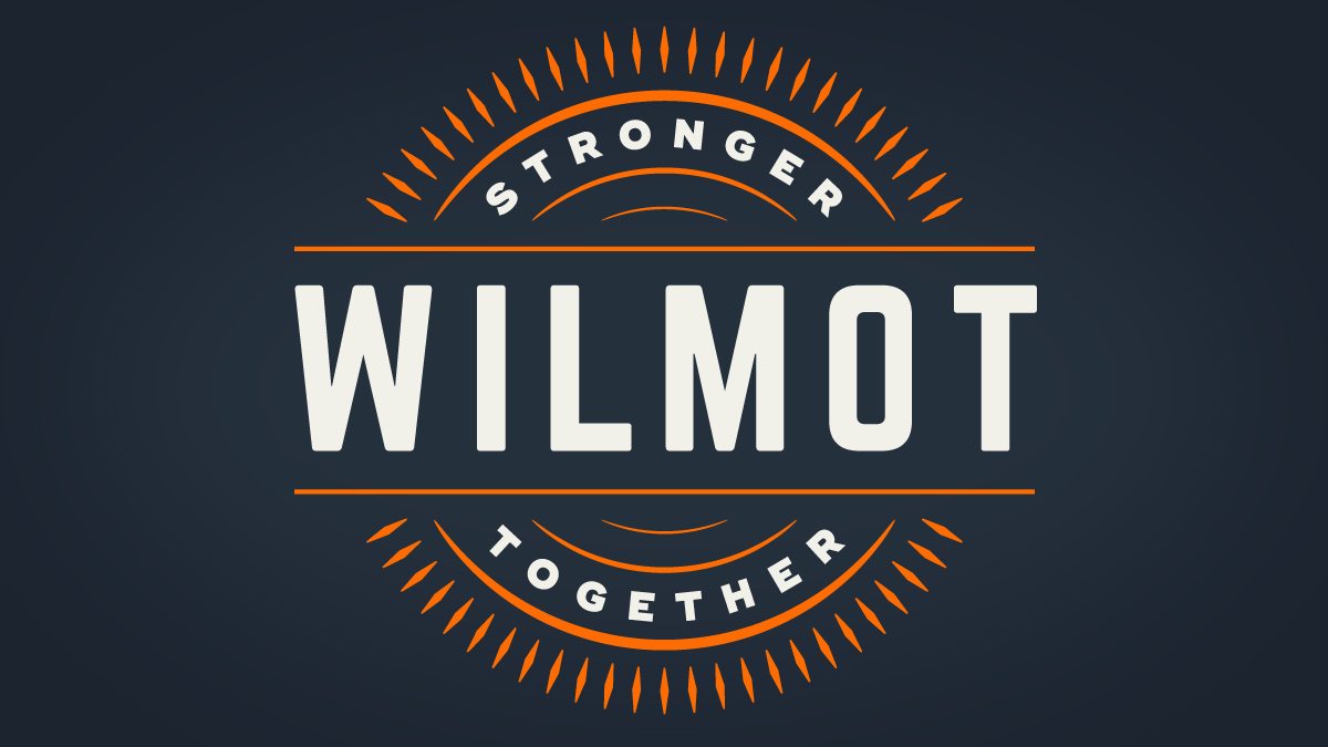 Wilmot Stronger Together logo, designed by Nigel Gordijk